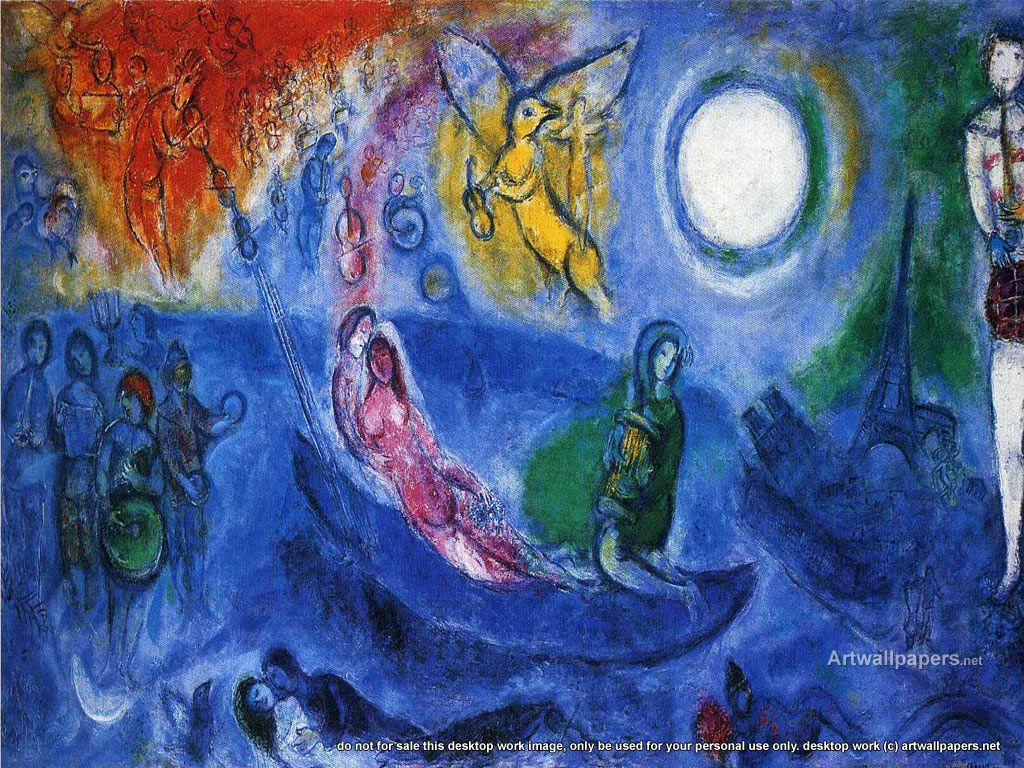 Marc Chagall The Colour Of Love Canvas Wall Art Picture Print