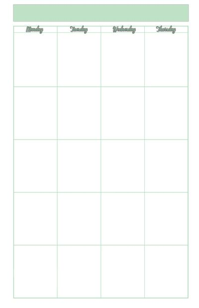 Monthly Blank Planner Agenda Weekly Template Free Printable For