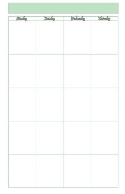 recipe journal template