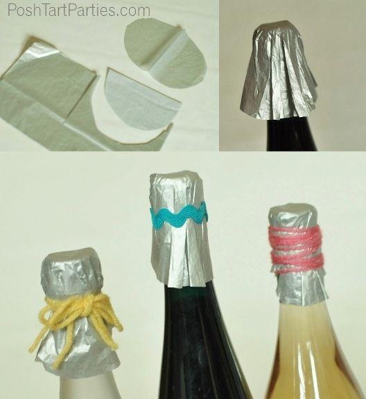 DIY Wine bottle wrapper