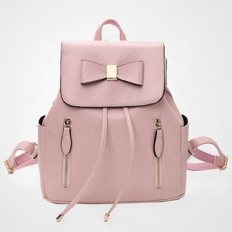 8c0db9a554fde 2018 Trending Handbag Fashion College School Bags Girls Pink Backpack Bag  Mochilas FS6248