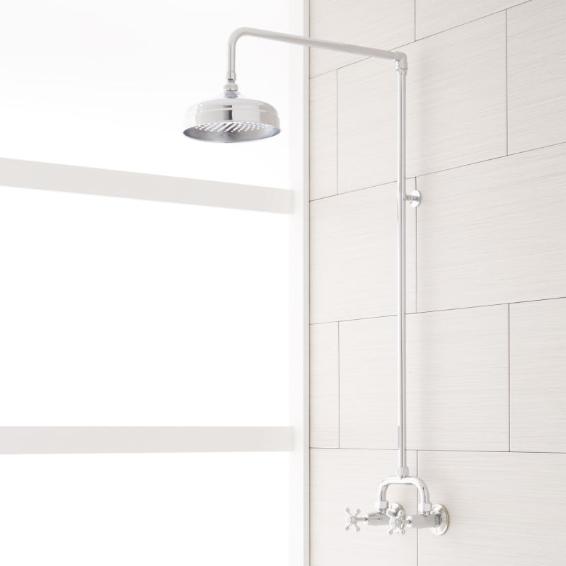 Signature Hardware 922235 Baudette Exposed Wall Mounted Shower