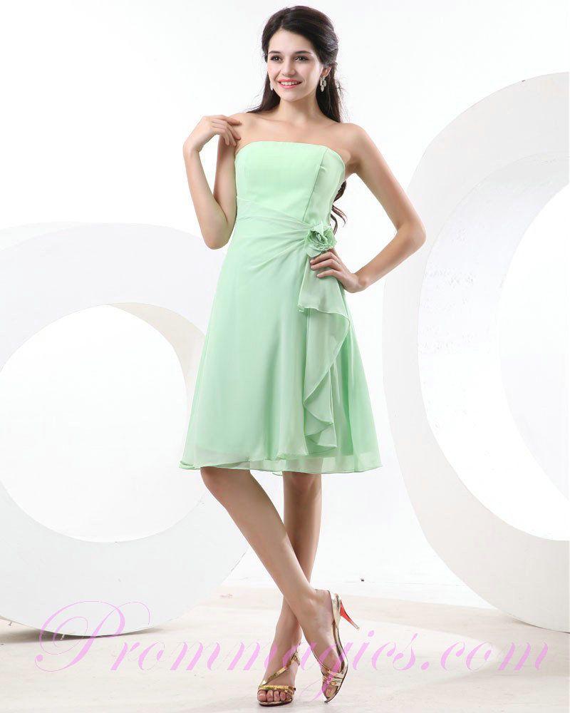 Green bridesmaid dresses cheap chiffon strapless flower mint green bridesmaid dresses cheap chiffon strapless flower mint green bridesmaid dresses ombrellifo Choice Image