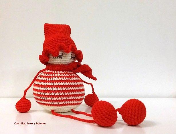 Con hilos, lanas y botones: Duende navideño | 467x615