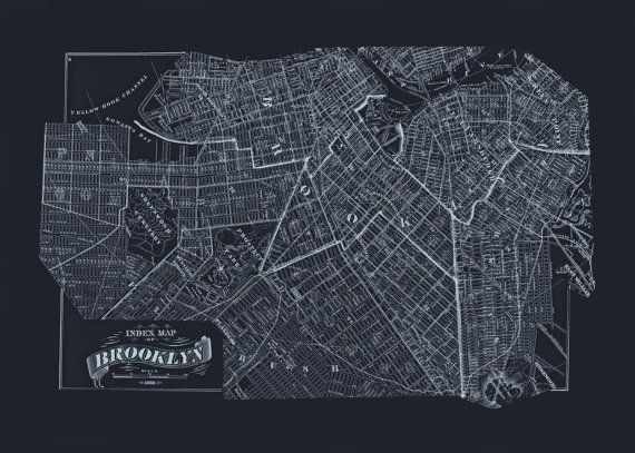 Brooklyn blueprint map old map of brooklyn new york city brooklyn blueprint map old map of brooklyn new york city blueprint map office wall art professional reproduction malvernweather Image collections