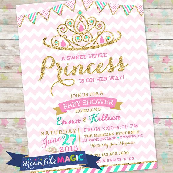 Princess Baby Shower Invitation Royal Princess by DreamlikeMagic - printable baby shower invite