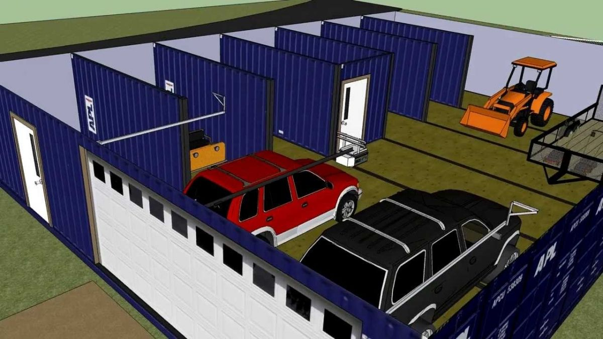 Shipping Container Garage Plans Container House Plans Container