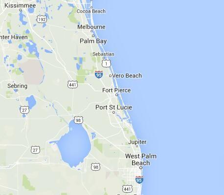 Map Of Fort Pierce Florida.Walmart Supercenter 973 In Fort Pierce Florida Fort Pierce Fl