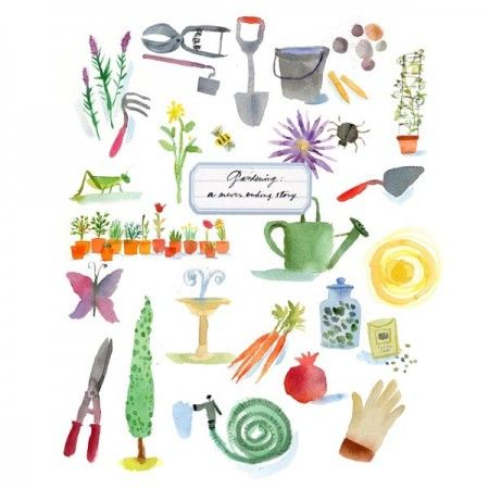 gardening LL illustrated by maria carluccio