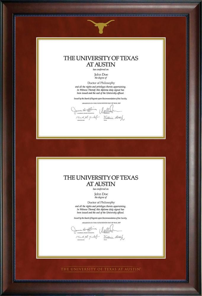 University Co-op Online | University of Texas Double Diploma Frame ...