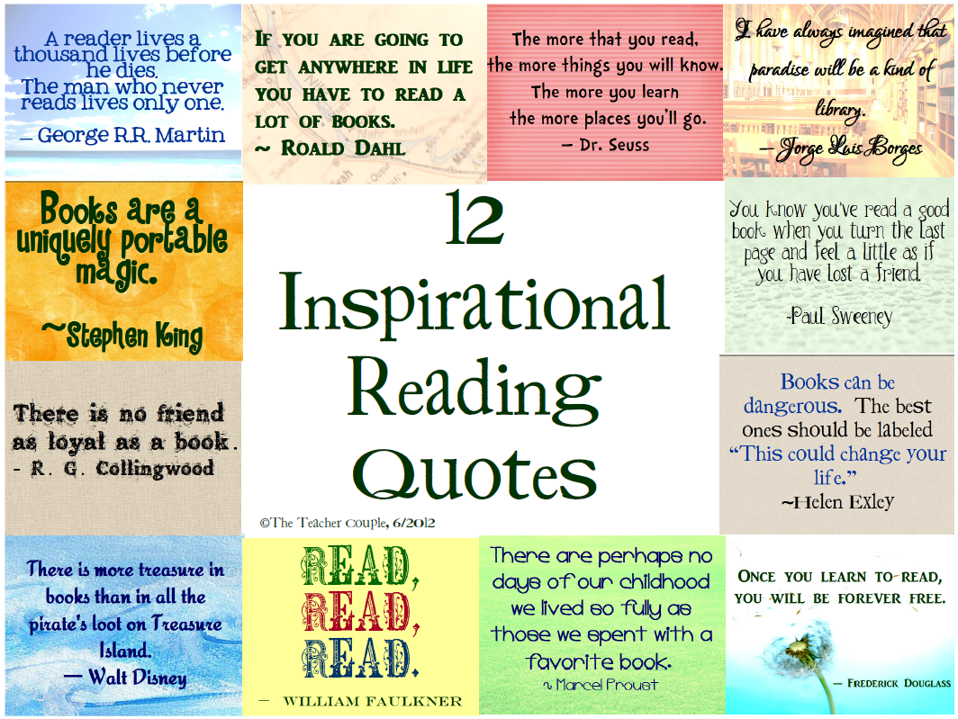 12 Inspirational Reading Quotes Inspirational Reading Quotes