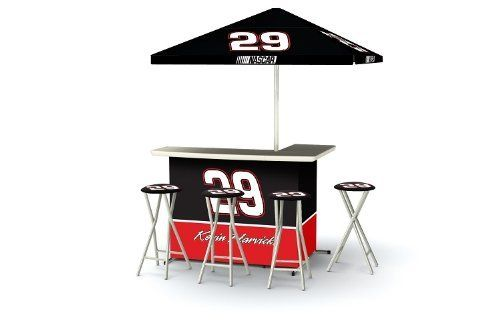 Kevin Harvick Nascar Portable Bar With Bar Stools By Best Of Times
