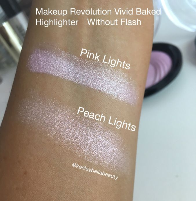 Makeup revolution vivid baked highlighter swatches