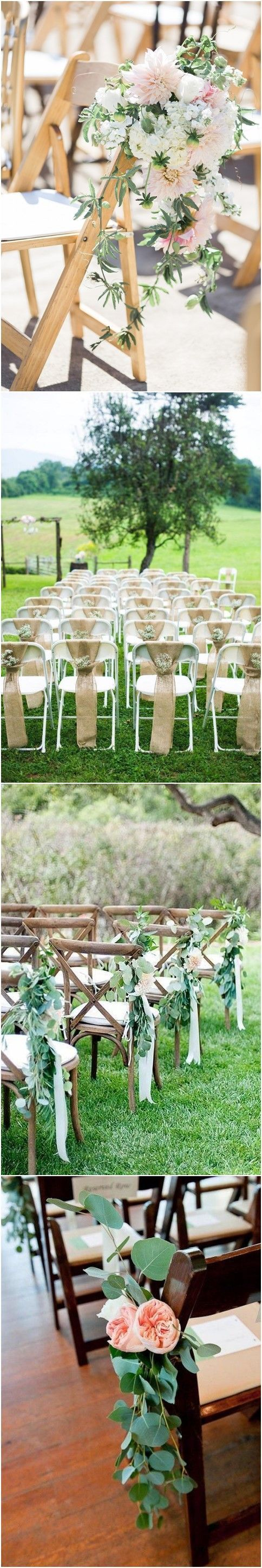Wedding decorations at church january 2019  Musthave Wedding Chair Decorations for Ceremony  Wedding Ideas