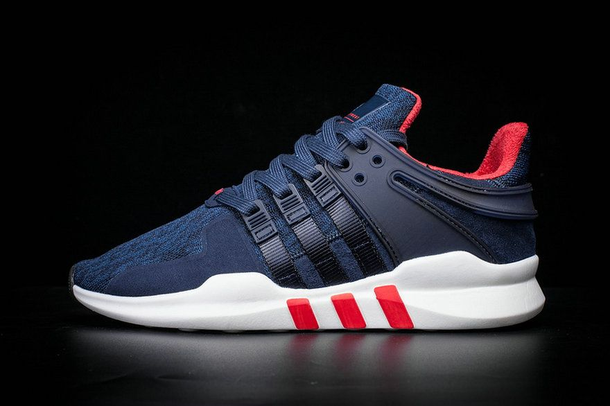 Adidas Originals EQT Support Adv Dark Blue Red White 2018 Factory Authentic  Shoe fe566b1b6