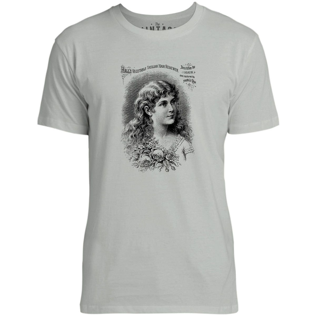 Mintage Sicilian Hair Renewer Ad Mens Fine Jersey T-Shirt (Silver)