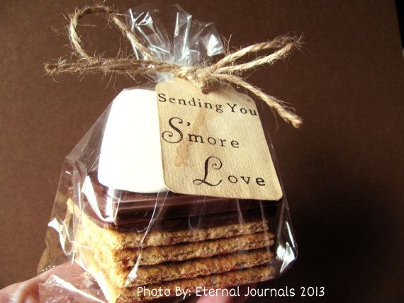 100 Hand Stamped Tags. Hand Stained. SENDING YOU S\'more Love. Smores ...