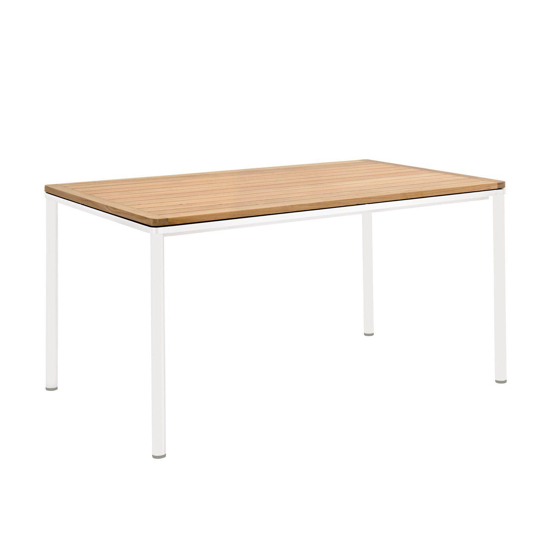 Eine Umlaufende Zarge Mit Sanfter Rundung Pragt Das Design Der Portland Tische Sie Sind Der Elegante Mittelpunkt Jeder Gesellschaf Teak Gartentisch Tisch Weiss