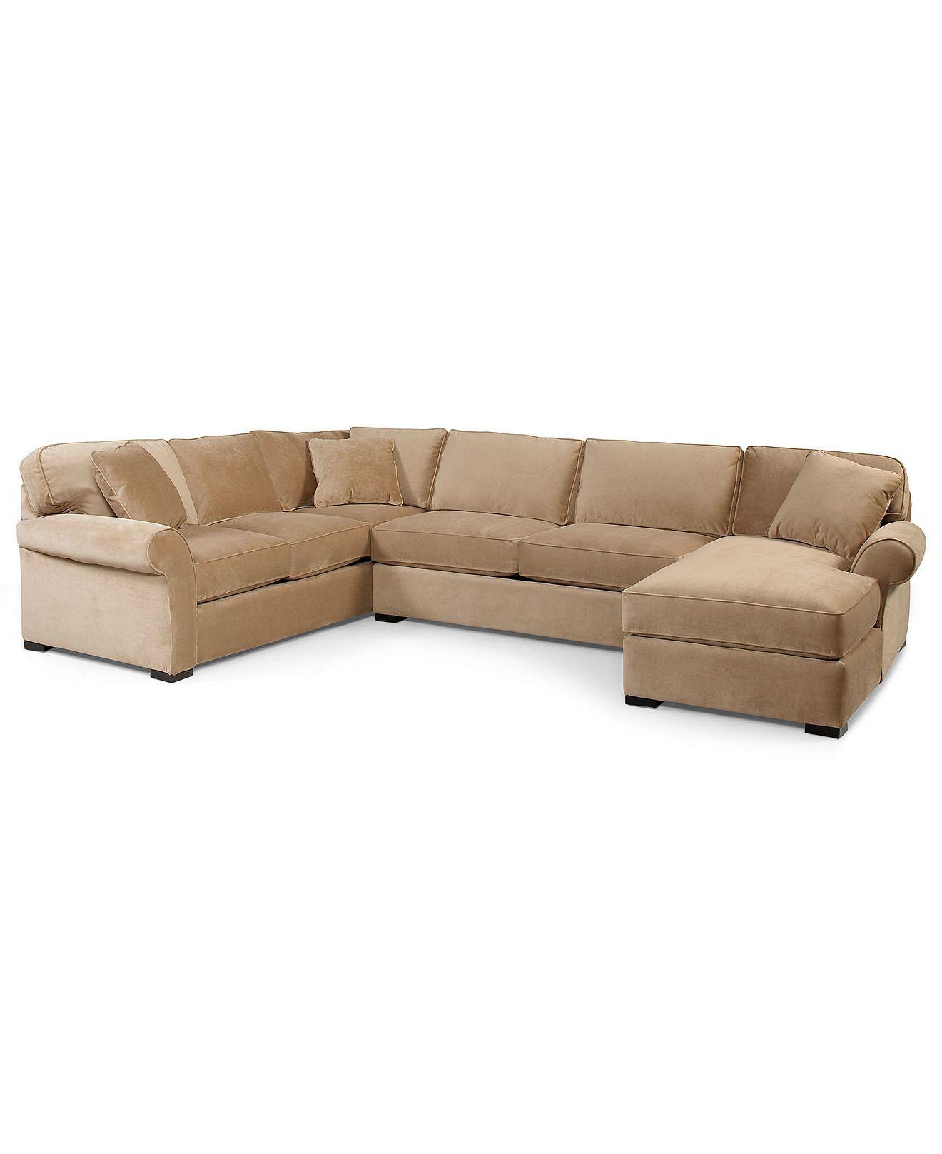 Joyce Fabric Sectional Sofa, 3 Piece (Apartment Sofa, Chaise & Sofa ...