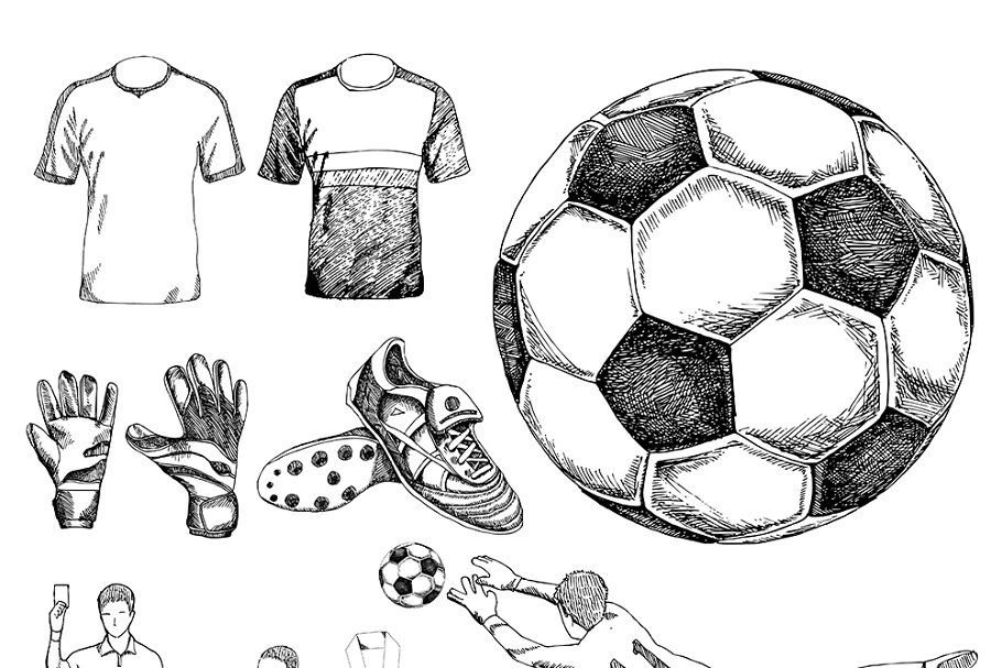 Soccer Drawing In 2020 Soccer Drawing Drawings Vector Drawing