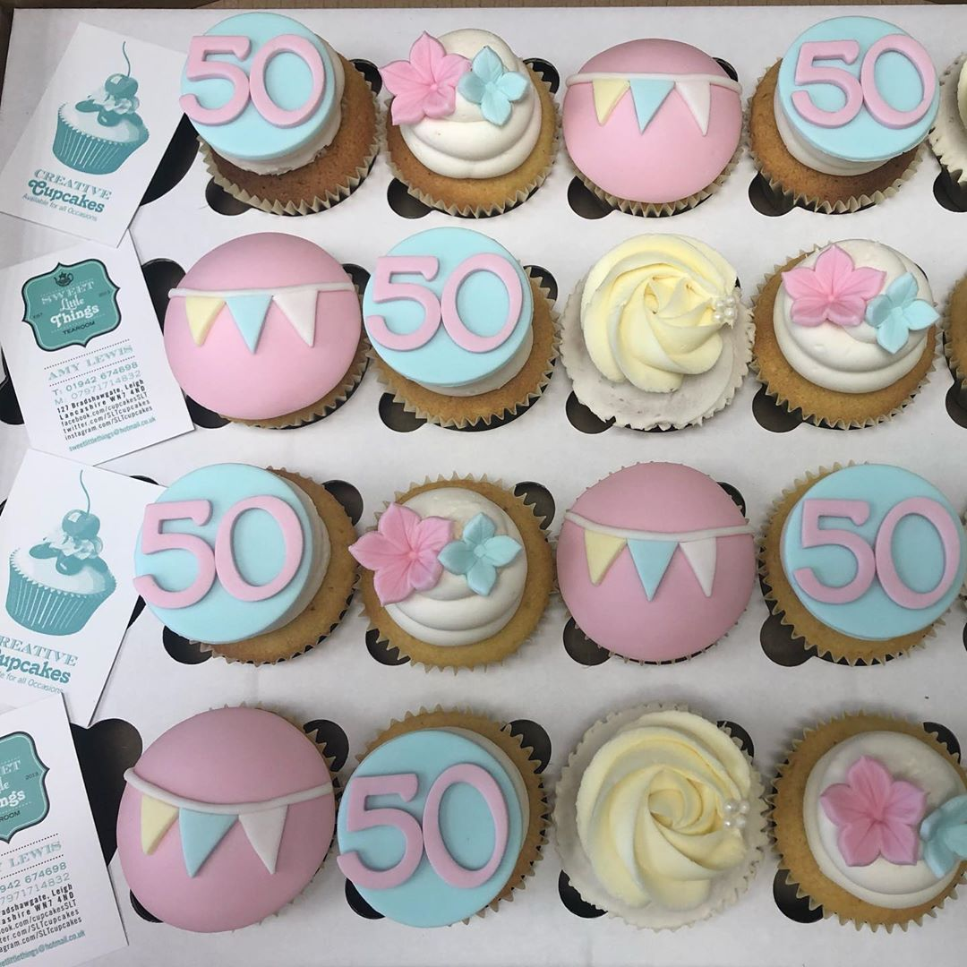 Happy 50th Birthday We loved creating these pretty cupcakes