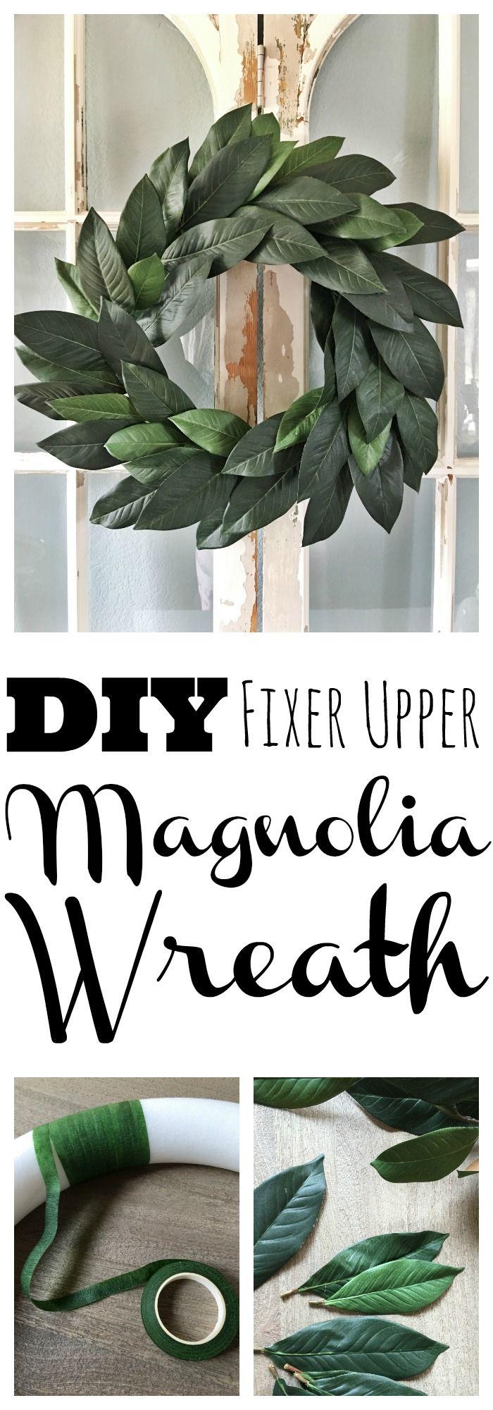 Photo of Budget Friendly Fixer Upper Faux Magnolia Wreath DIY – Jolly & Happy