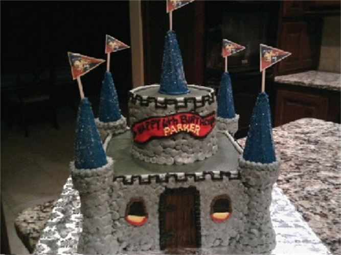Boy Castle Birthday Cake Facebook BobbiCakes