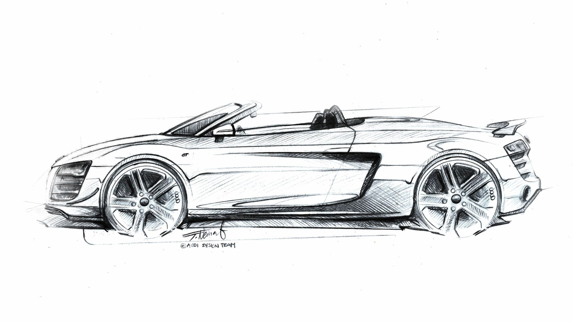how to draw a audi r8