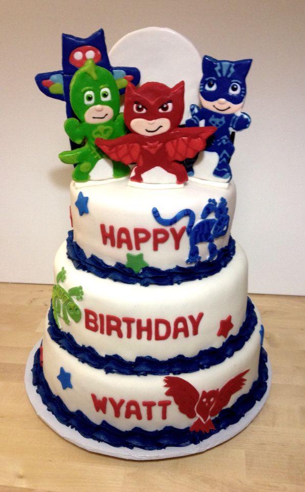 PJ Masks Themed Cake