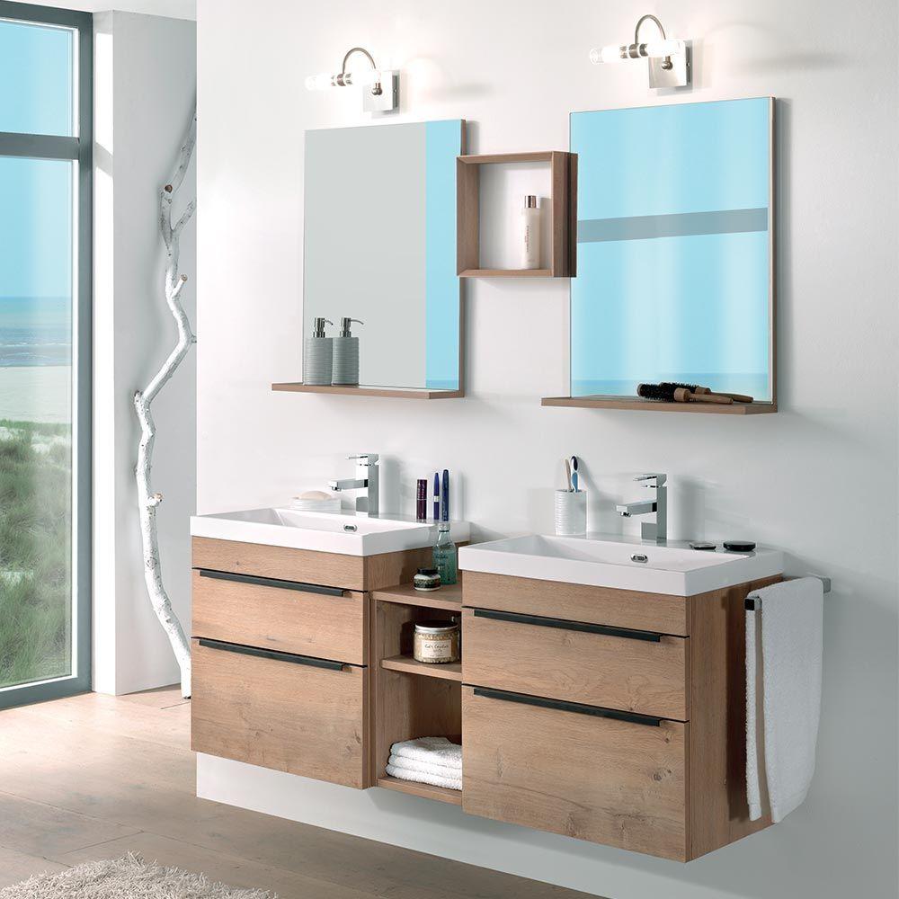 Espace Entre 2 Vasques salle de bains hobson en 2020 | salle de bains moderne