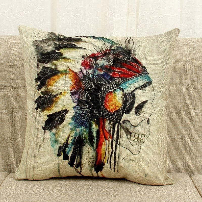 Hot Sale Obeny Printed Cotton Linen Cushion No Filler Pillow Chair Car Sofa Cushions Decorative Throw Pillows 45*45cm