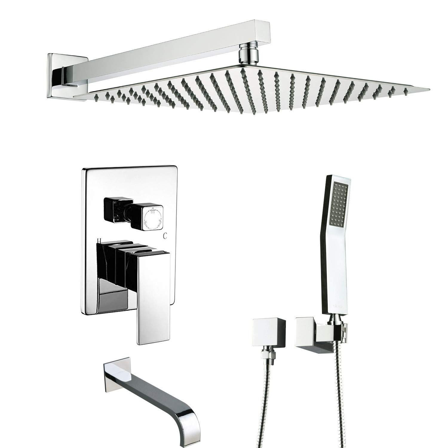 Artbath Shower System With Tub Spout Shower Faucets Set For Bathroom And High Pressure Rain Shower Head Rain Shower Head Tub And Shower Faucets Shower Systems
