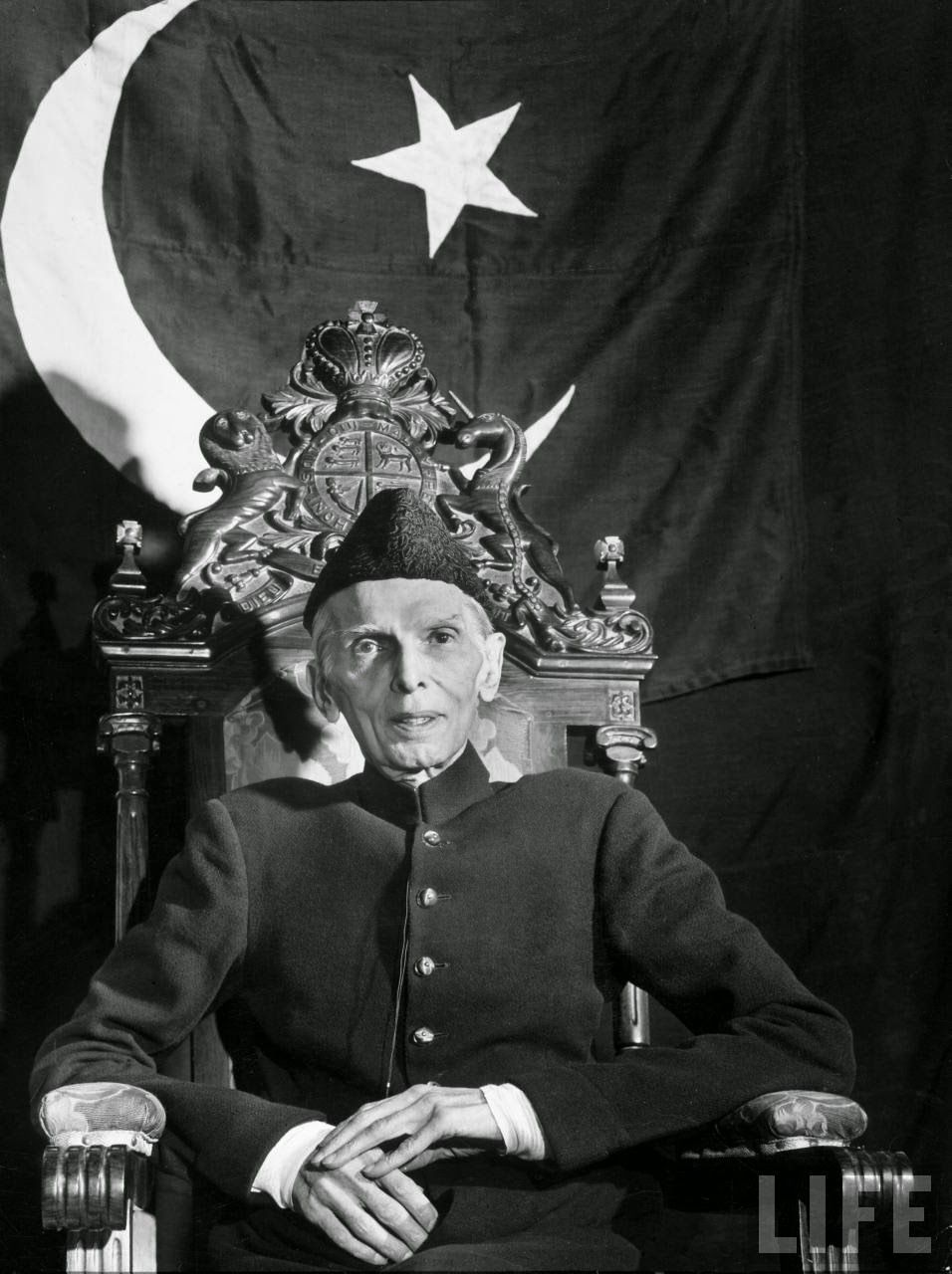 first governor general of muhammad ali jinnah sitting in first governor general of muhammad ali jinnah sitting in front of i flag