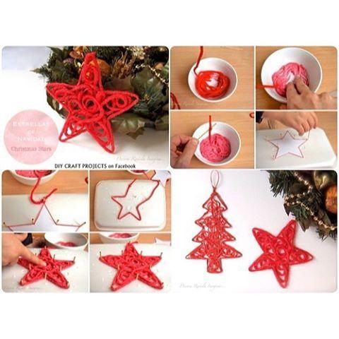 Auf eine Blatte lange Nägel in Weihnachtsform hämmern. Eine Schnur in Bastelleim tauchen und um die Nägel wickeln. trocknen lassen und fertig #allaboutxmasdiy