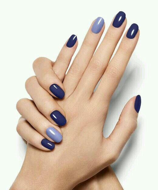 Blue Winter Nails Trendy Nails Nail Colors