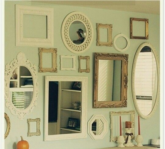 Multiple Mirrors On The Wall In The Hall On The Left As You Come Through The Front Door Cheap Home Decor Wall Decor Pictures Multiple Mirrors