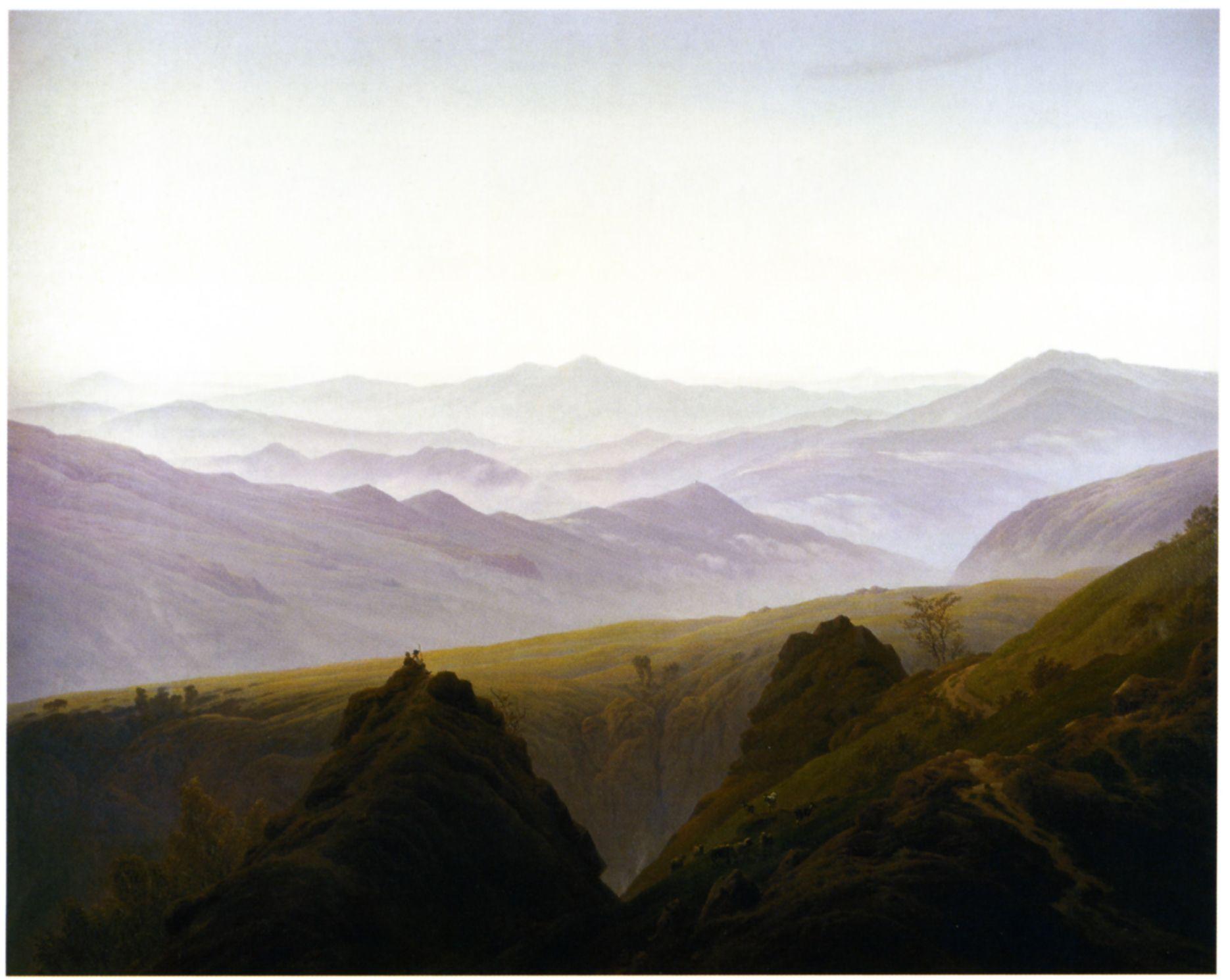 Landschaftsmalerei romantik friedrich  Caspar David Friedrich | Caspar David Friedrich 1774-1840 ...