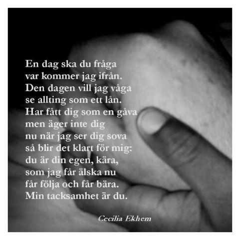 svensk poesi om livet