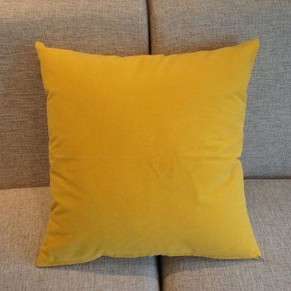 Amazon com - Mustard Yellow Solid Color Flocking Velvet 100