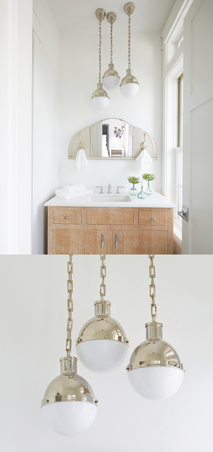 bathroom lighting pendants. A Brilliant Bathroom Lighting Idea From The Texas Monthly Gulf Coast Show Home! Hicks Small Pendants By Thomas O\u0027Brien In Polished Nickel