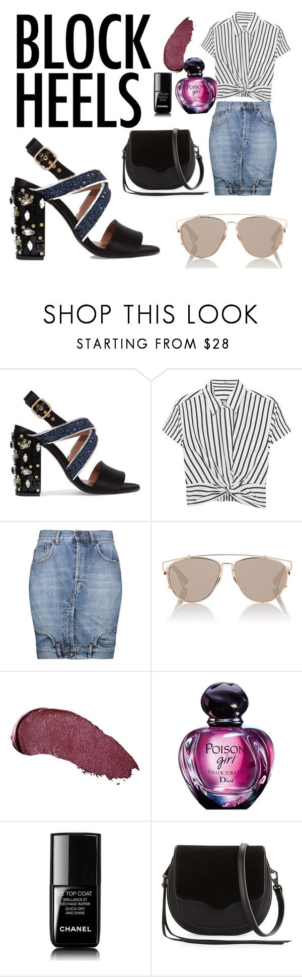 """""""Night out"""" by laurenhaugen ❤ liked on Polyvore featuring Marni, T By Alexander Wang, Moschino, Christian Dior, Kat Von D, Chanel and Rebecca Minkoff"""