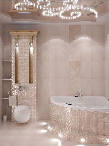 beautiful, bathroom, lighting, interiors, design, ideas, jacuzzi