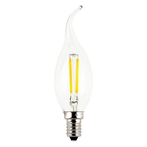 Generic 2-Watt Led Filament Candle Light Bulb,E12 C35 Candelabra ...