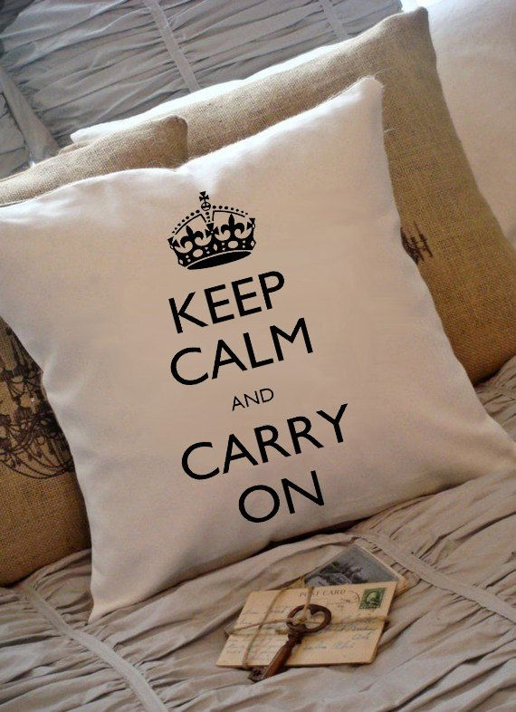 Keep Calm And Carry On Digital Image Great For Image Transfer on Pillows, Tea Towels and more..Sheet no. 104