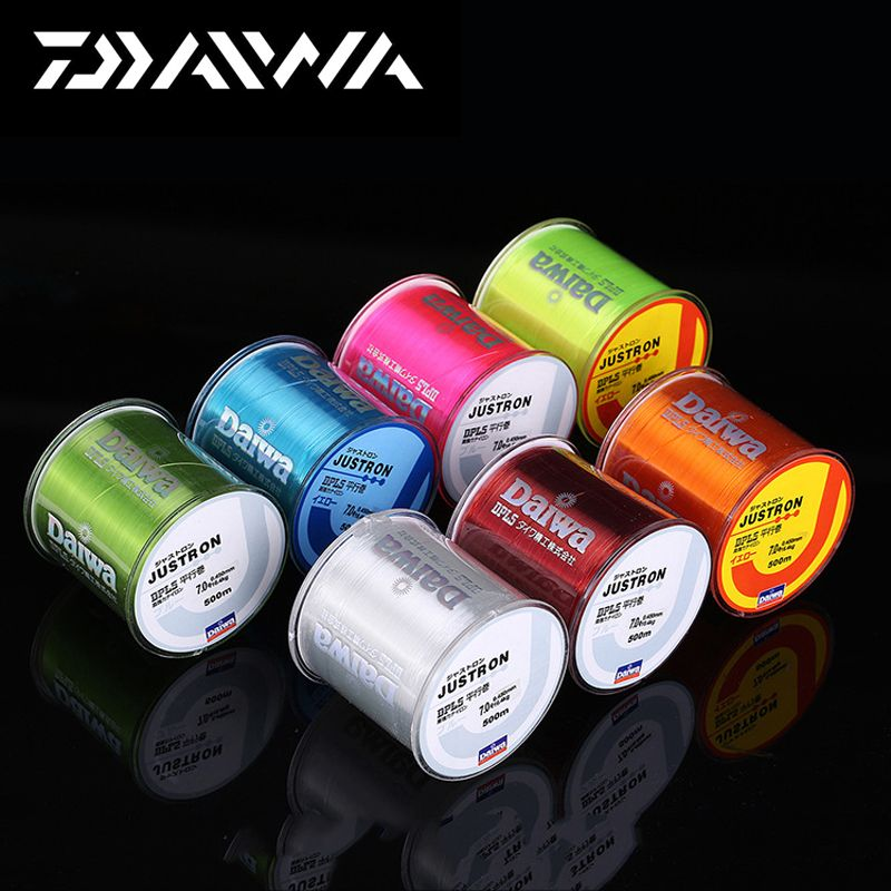 500m super strong daiwa justron nylon fishing line 2lb for Colored fishing line