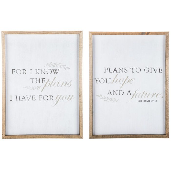 Jeremiah 29 11 Wood Wall Decor Set Wall Decor Set Wood Wall Decor Canvas Wall Decor