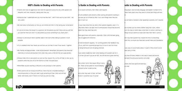 NQT Guide for Parents - nqt, guide, parents, teachers, new, help