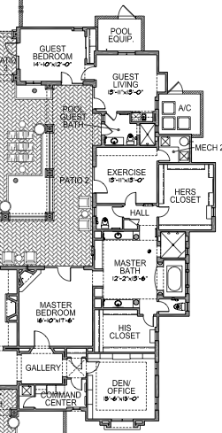 Master Wing Layout Floor Plans House Plans Layout
