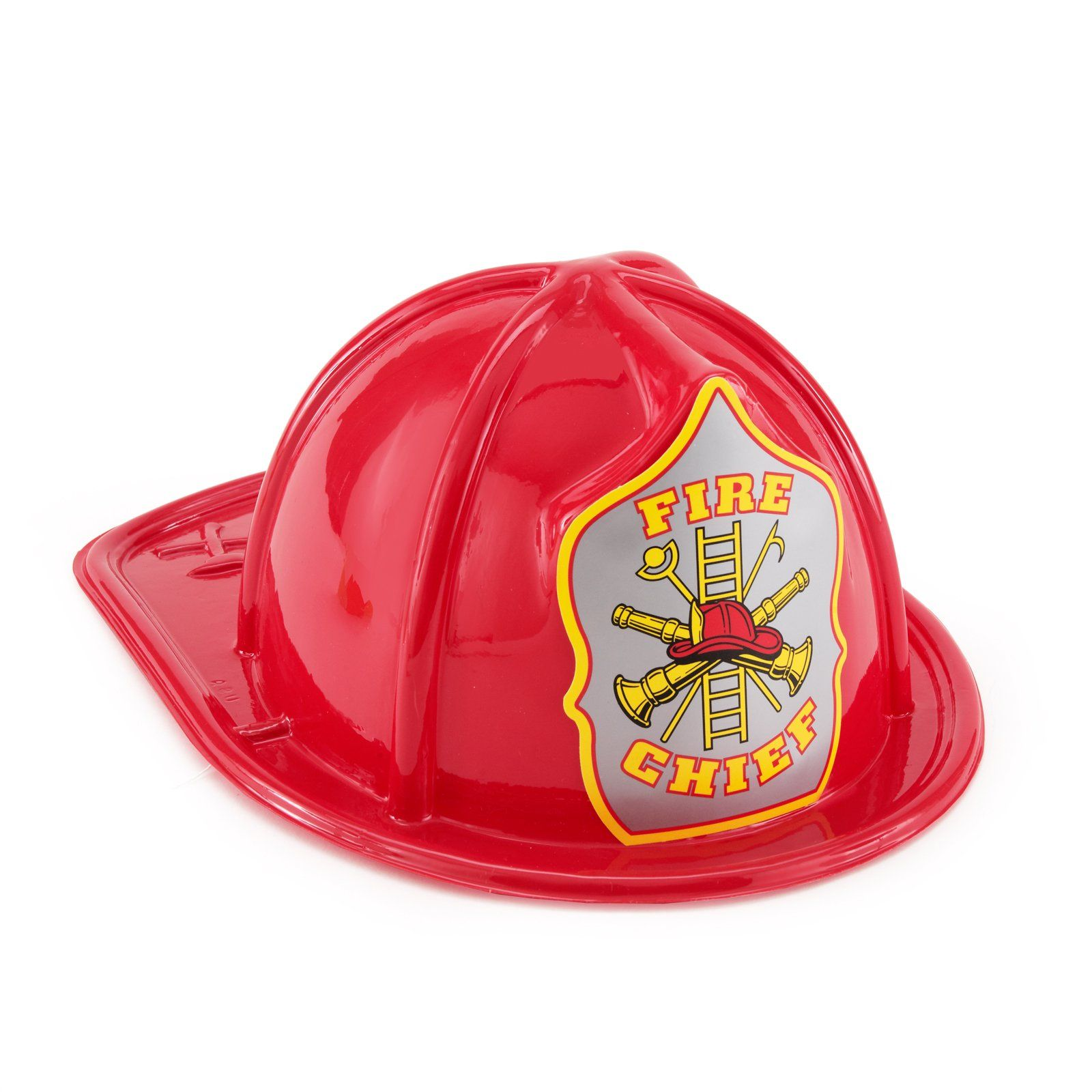 Child Size Red Plastic Fire Chief Hat from BirthdayExpress