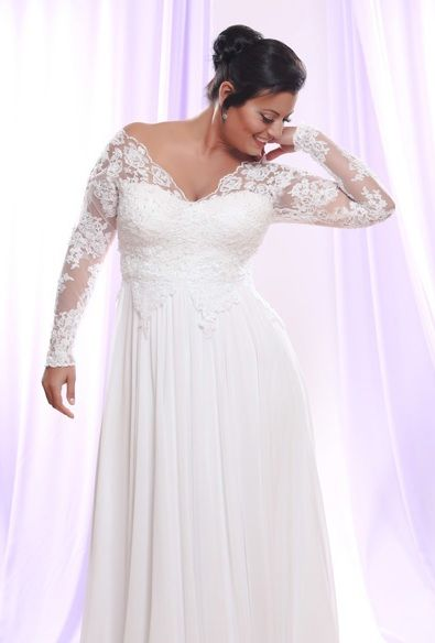 Wedding Dresses With Sleeves For Plus Size WEDDING HUB wedding